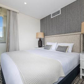 Our Deluxe Ocean View 1 Bedroom Apartments are contemporary and spacious. They feature a furnished balcony, kitchenette and lounge/dining area.